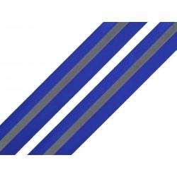 Bande réfléchissante à coudre bleue