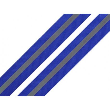Sew-on reflective webbing tape blue