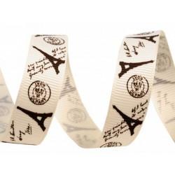 Printed grosgrain ribbon