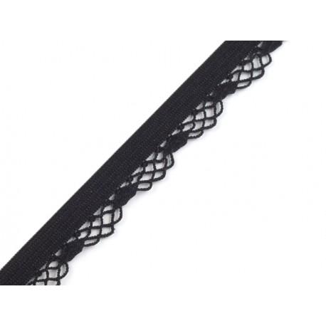 Black decorative elastic