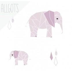 Allgots - Elsie Elephant - Soft pink