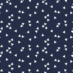Coton triangles marine