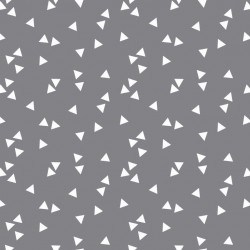 Grey triangles cotton
