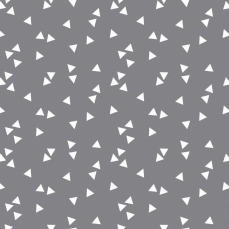 Grey triangles cotton