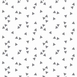 Coton triangles blancs