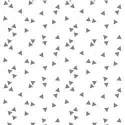 White triangles cotton
