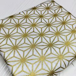 Asanoha blanc-doré
