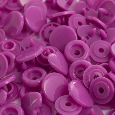 Pressions KAM coeurs lilas - 20x