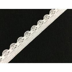 White decorative elastic