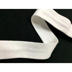 Biais jersey uni blanc