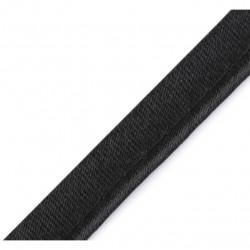 Passepoil satin noir