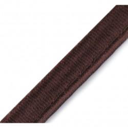 Passepoil satin brun - 10mm