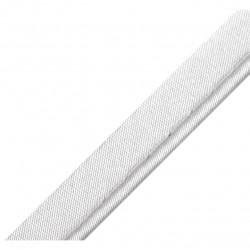 Passepoil satin gris - 10mm
