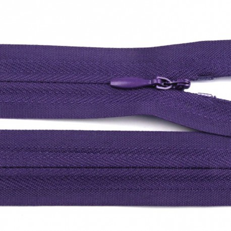 Invisible closed-end zip - purple