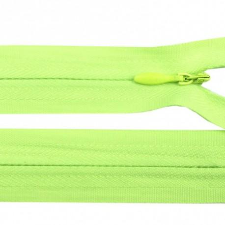 Fermeture invisible - vert fluo
