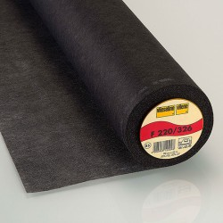 Vlieseline F220 - Entoilage thermocollant noir