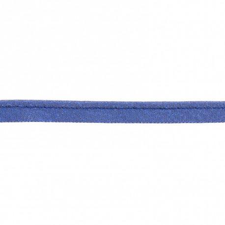 Passepoil lamé bleu