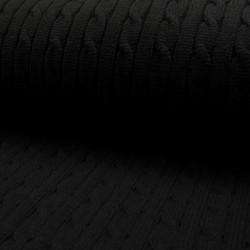Maille torsades noire