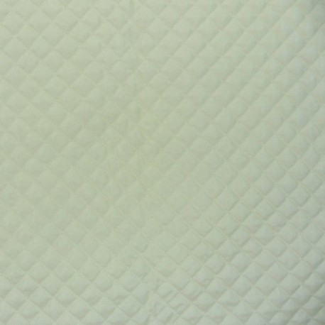 White lining quilted