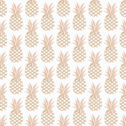 Gold pineapple cotton