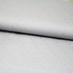 France Duval-Stalla - Grey cotton twill golden dots