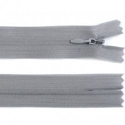Invisible closed-end zip - grey