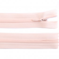 Invisible closed-end zip - pink