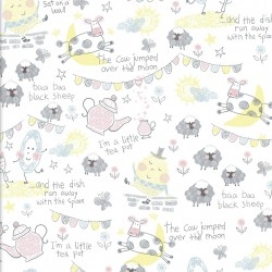 3 Wishes fabric - Playful Cuties
