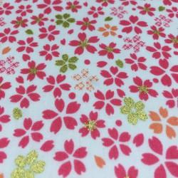 Kokka - Japanese flowers pink