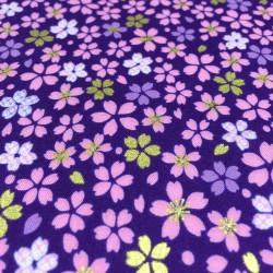 Kokka - Japanese flowers purple