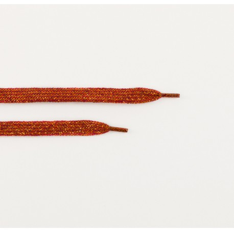 See You at Six - Shoelaces - Spice Red with Gold Lurex