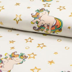 Jersey foil glitter unicorn