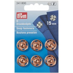 Prym press studs to sew 15mm