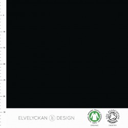 Elvelyckan Design - Interlock black solid