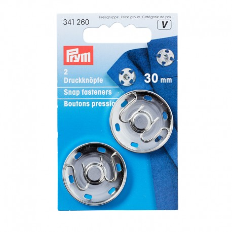 Prym press studs to sew 30mm