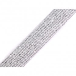 Elastic silver-white lurex - 30mm