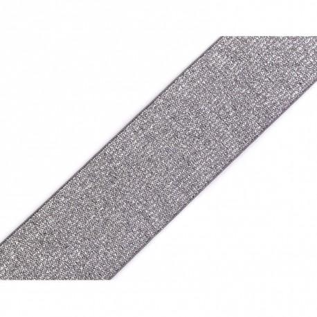 Elastic silver-grey lurex - 40mm