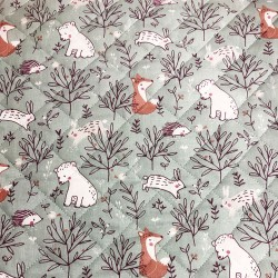 Reversible quilted fabric