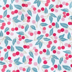 Liberty Piccadilly Poplin Cherry drop