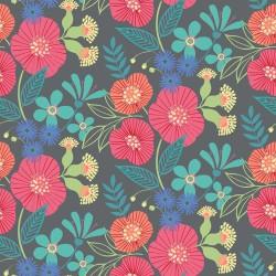 Cotton retro flowers