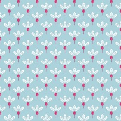 Cotton graphic flowers