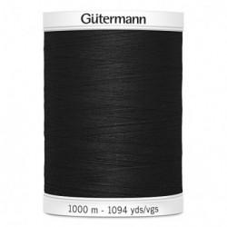 Gütermann sewing thread black (000) - 1000m