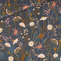 See You at Six - Cotton Gabardine Twill Flower Field - 10cm