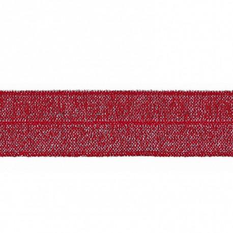 Lurex elastic bias tape - 20mm