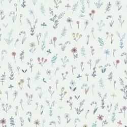 Flowers field cotton