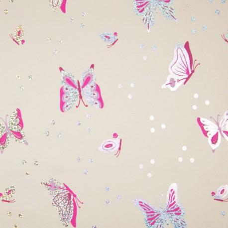 Jersey foil butterfly