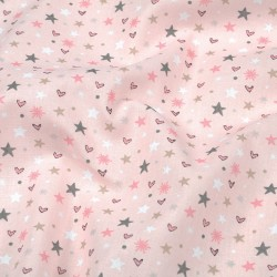 Cotton hearts and stars