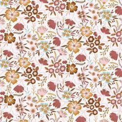 Brushed cotton autumn flowers