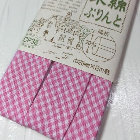 Bias tape pink flowers