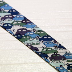 Bias tape Liberty Cars blue